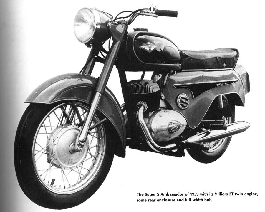 1959 Ambassador Super S with the Villiers 2T 250cc Twin Two-Stroke