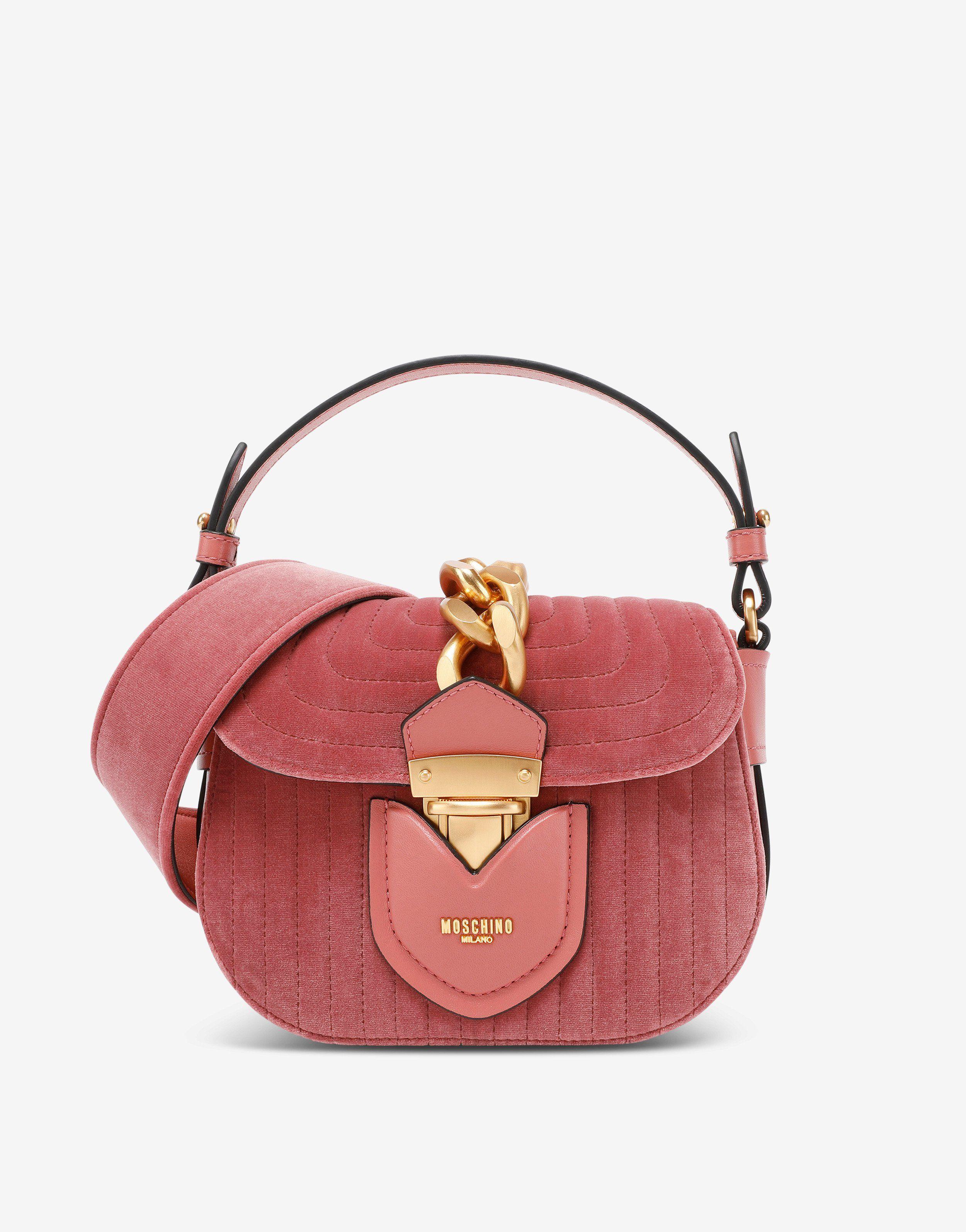 Hidden Lock in velvet Bags Women Moschino   Borse