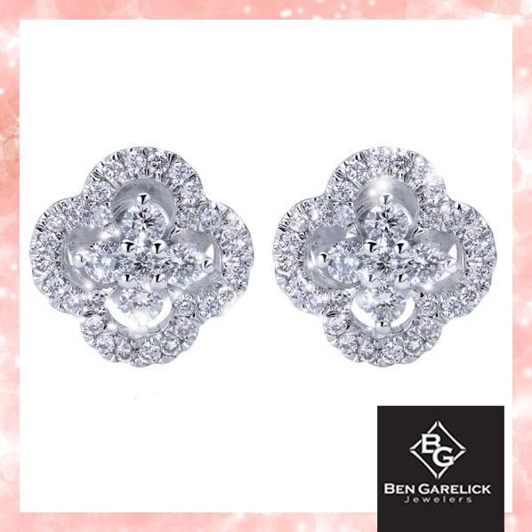 Clover diamond earrings.