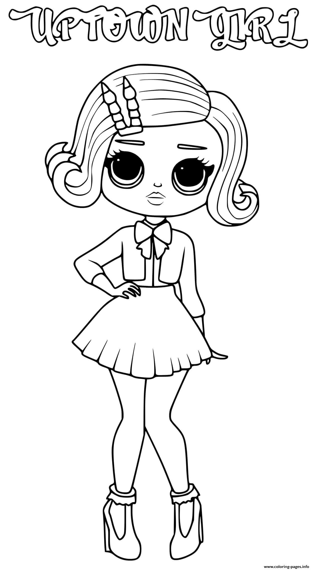 Print Uptown Girl Lol Omg Coloring Pages In 2021 Unicorn Coloring Pages Coloring Books Coloring Book Pages