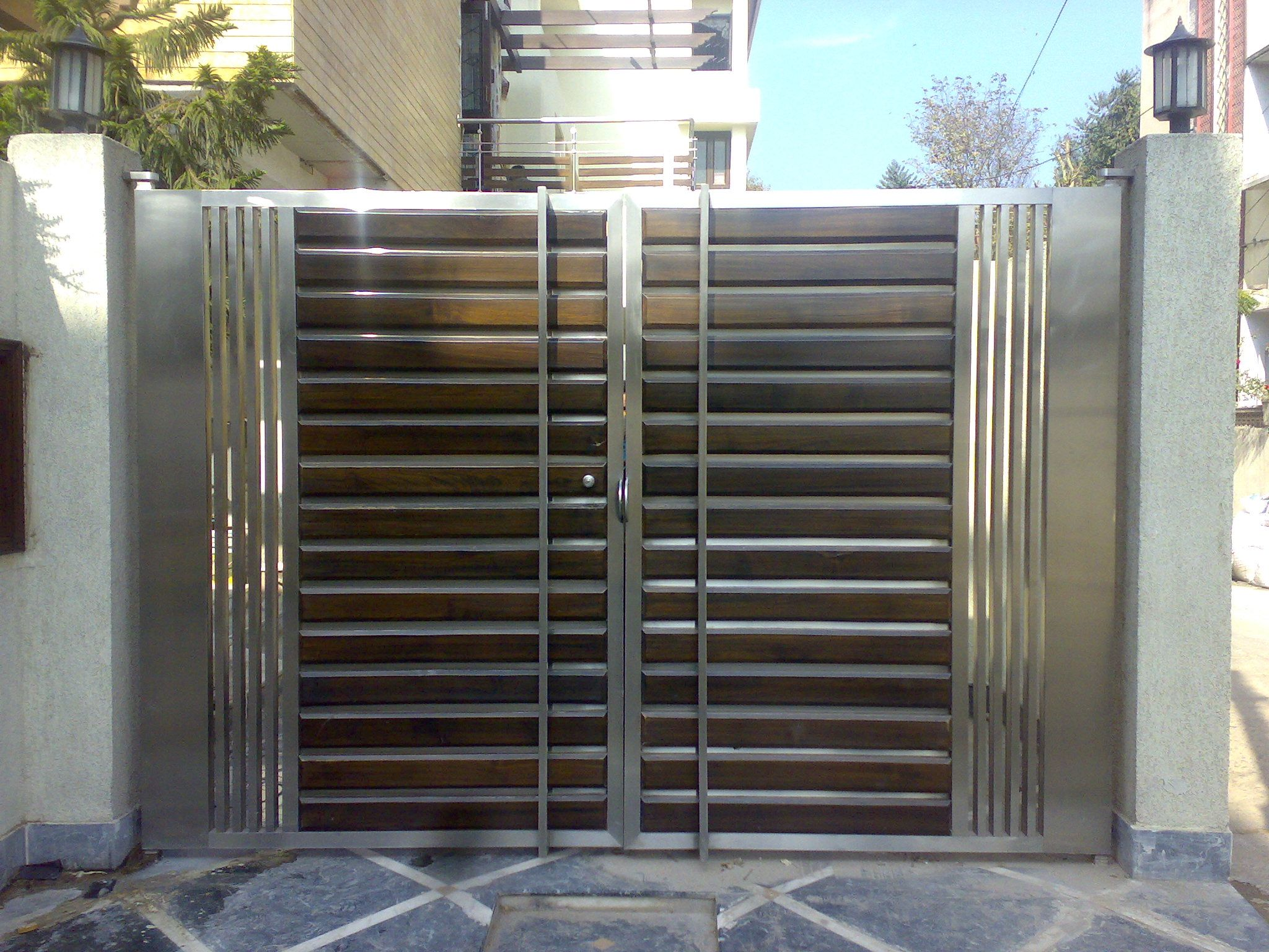 Compund walls and gate pinterest google gate design and gates - Steel Gates Stainless Steel Gates Gate
