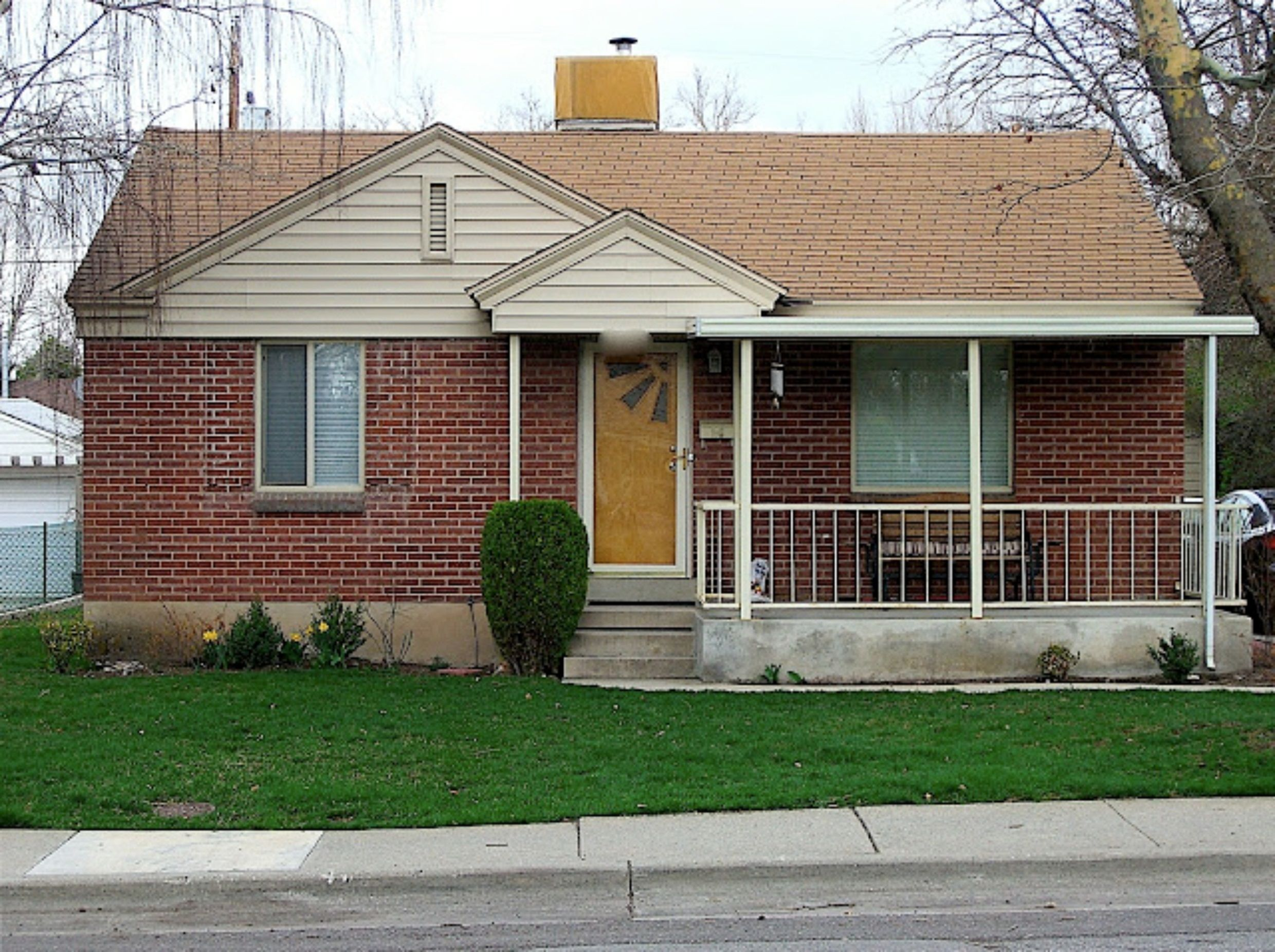 small brick house design with simple terrace ideas using wood porch rh pinterest com small brick house plans photos small brick cottage house plans