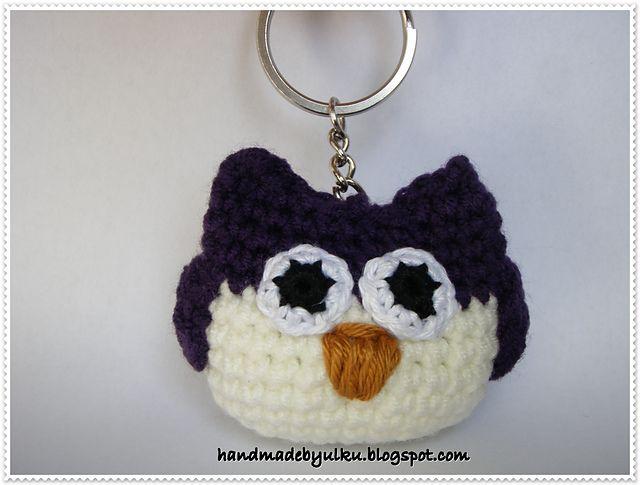 Amigurumi Owl Keychain : Amigurumi Owl Keychain crochet pattern by ulku Demirel ...