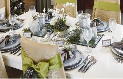 Wine Glass with Snowflake Charm - Holiday Table Setting