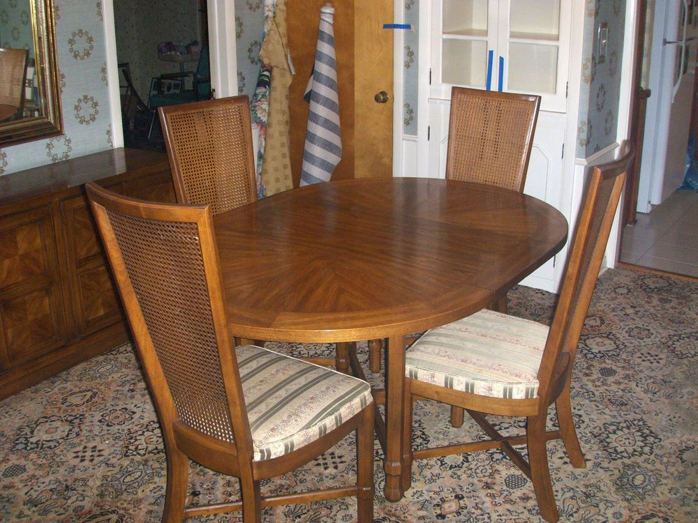 Vintage 1969 drexel(heritage) compatica dining room set,4 chairs ...