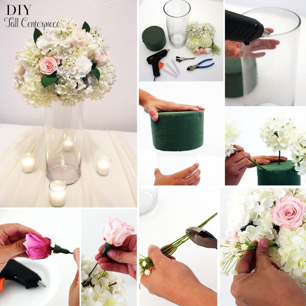 How To Make A Tall Centerpiece Floral foam, Tall wedding