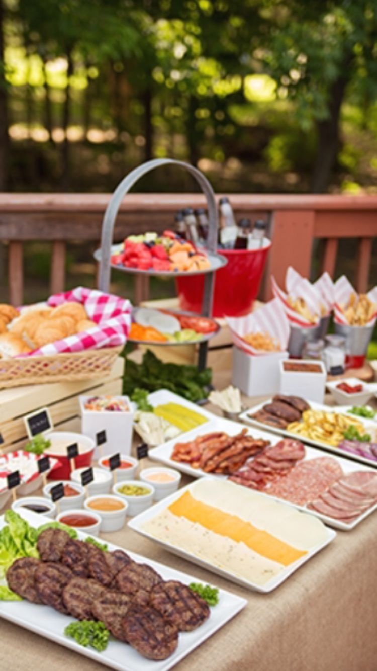 ideas to spice up your summer bbq featuring a gourmet burger bar