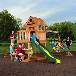 Backyard Discovery Springboro Wood Swing Set (With images ...
