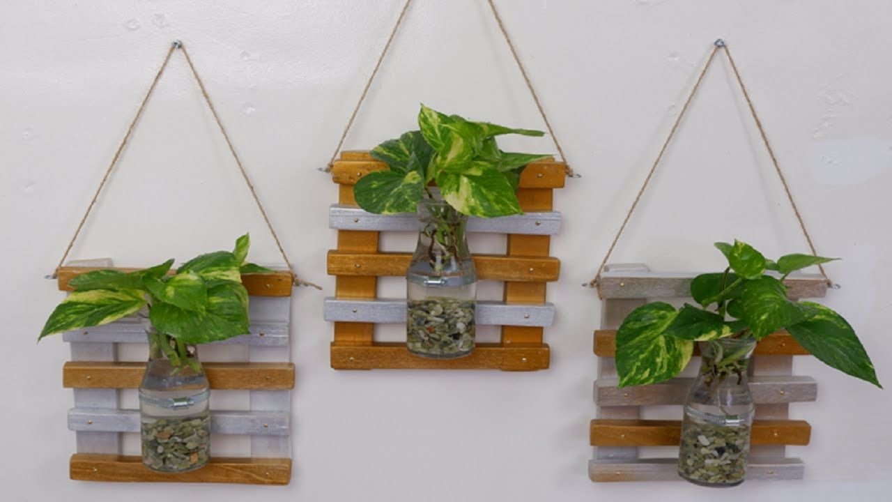Diy Money Plant Wooden Wall Hanging Decoration Idea At Home In 2020 Hanging Wall Decor Wooden Wall Hangings Hanging Decor