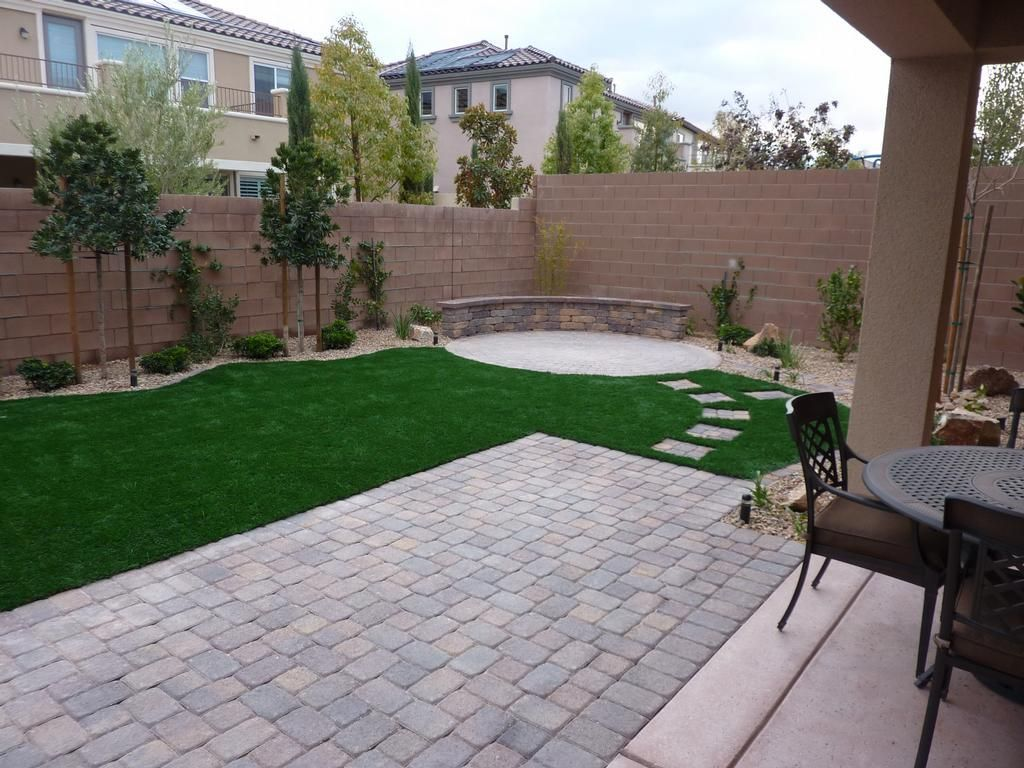 Impressive Backyard Ideas With Pavers And Grass, Inexpensive