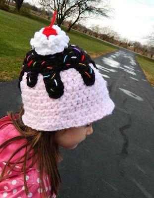 Ice Cream Sundae Hat   Crochet*D*Lane Designs   Pinterest   Stricken ...