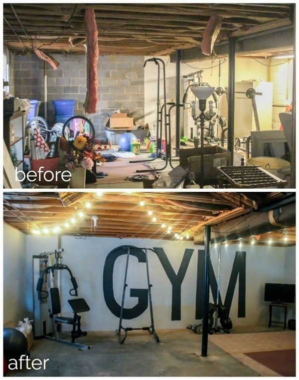 Unfinished basement to industrial home gym on a 100 - Turn unfinished basement into bedroom ...