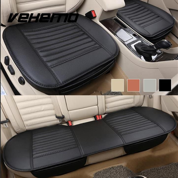 Half Surround PU Leather Car Seat Pad Breathable Covers Cushion Universal Full
