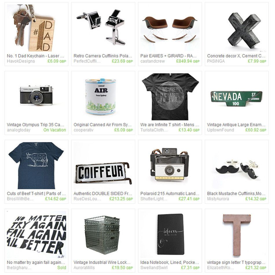 Etsy Treasury 'Gift guide for your Dad'