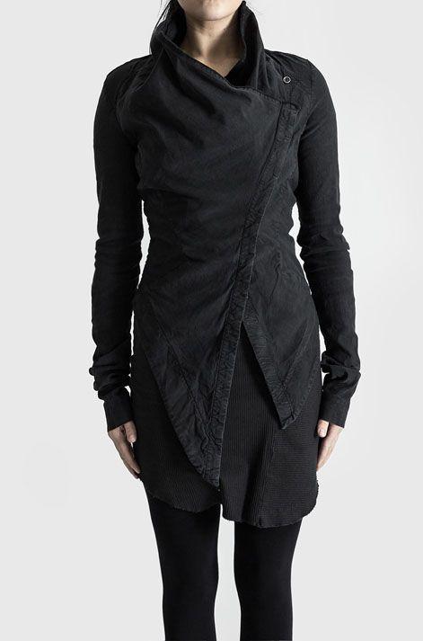 Visions of the Future: PREACH | Asymmetric closure jacket | Vintage black