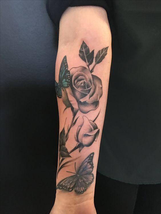 Photo of ▷▷ Tatuajes para (MUJER en el BRAZO) 【Negro y gris, color】