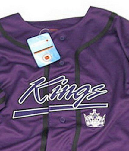 best website 54c2f 858d6 LA KINGS NHL BASEBALL Hockey Purple Jersey **SPECIAL DEAL ...