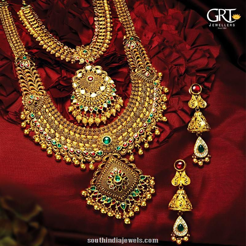 Bridal Gold Jewelleries From Grt South India Jewels Traditional Jewelry Gold Necklace Designs Antique Jewelry Indian,Easy Nail Art Designs At Home For Beginners Without Tools