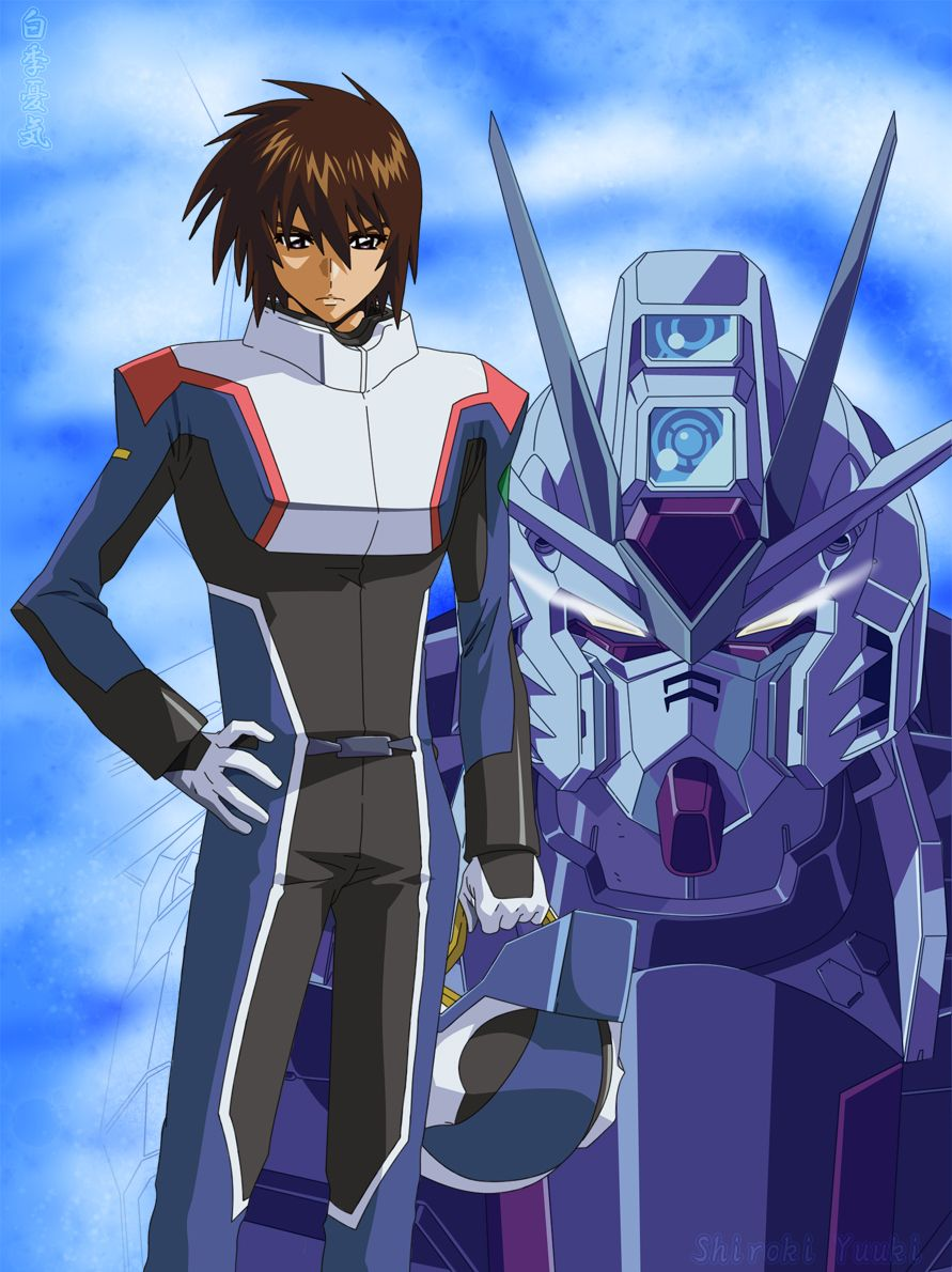 Anime Characters In Suits : Kira yamato the pilots pinterest gundam seed