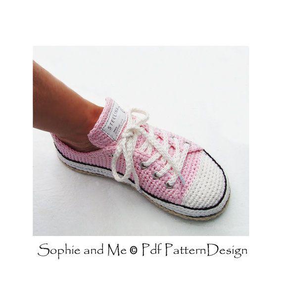 Sneaker Classics Crochet Pattern - Instant Download Pdf   Zapatitos ...