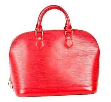 Authentic Louis Vuitton Carmine Epi Alma Red $699