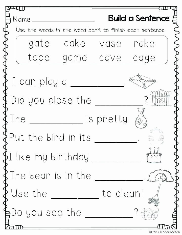 Spelling Practice Worksheets For Kindergarten