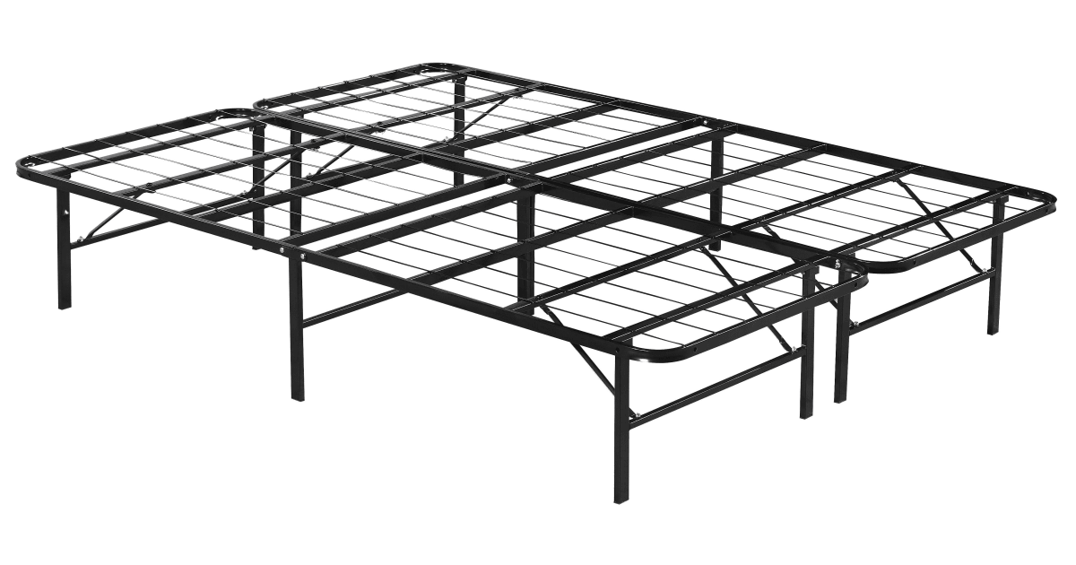 Queen Folding Metal Bed Frame Storage Platform Mattress Base Bed