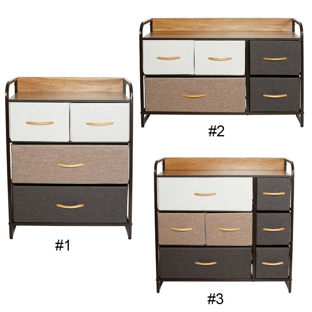 Details About Chest Of Fabric Drawers Dresser Furniture Cabinet