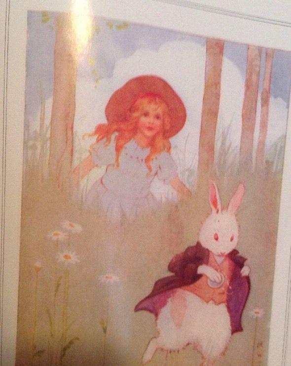 Alice In Wonderland Lewis Carrol Vtg Children S Book Large Print Illustrated