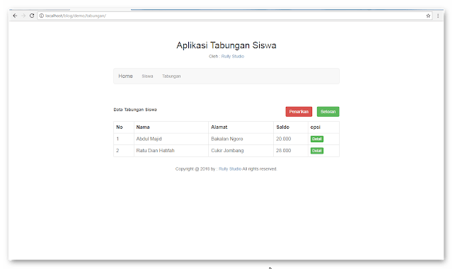 Source Code Aplikasi Tabungan Siswa Sederhana Menggunakan Php Mysqli Tabungan Php Aplikasi