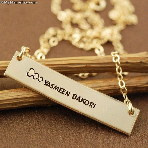 Photo of Der Name [yasmeen bakori] wird generiert auf Personalized Golden Charm Pendant With …