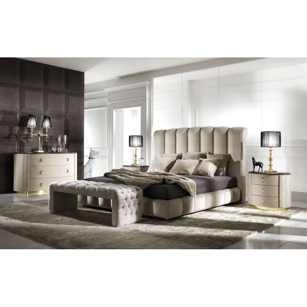 Byron Bed Glamour Italian Bedroom Design At Cassoni Com Leather