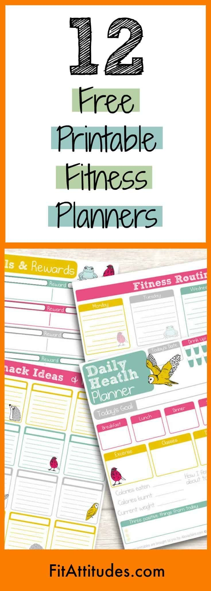 Free Printable Fitness Planners | Fit Attitudes | 21 Day Planners -  - #Attitudes #Day #Fit #Fitness...
