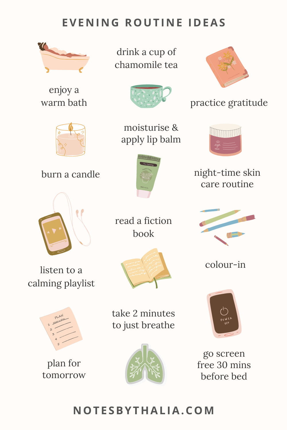 12 Evening Routine Ideas To Help You Relax & Calm The Mind