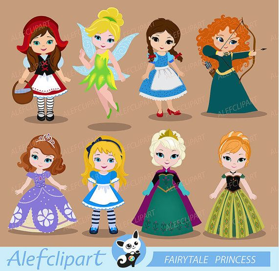Princess ClipartCute Princess Digital ClipartPRINCESS