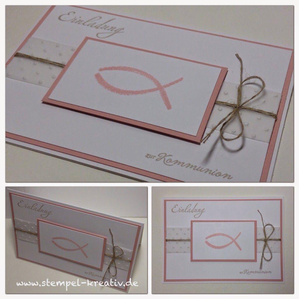 stampin up einladung kommunion   karten   pinterest   stampin up, Einladungskarten