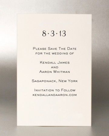 Addressing Save The Dates Invitations