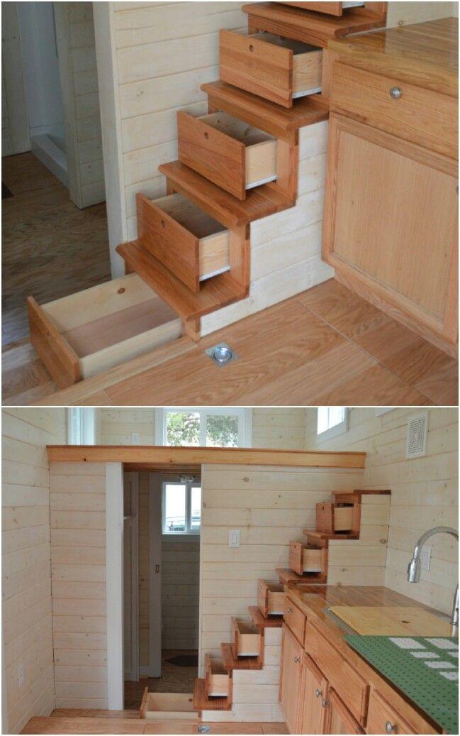 40 Tiny House Storage And Organizing Ideas For The Entire Home Tiny House Stairs Tiny House Storage Tiny House Organization