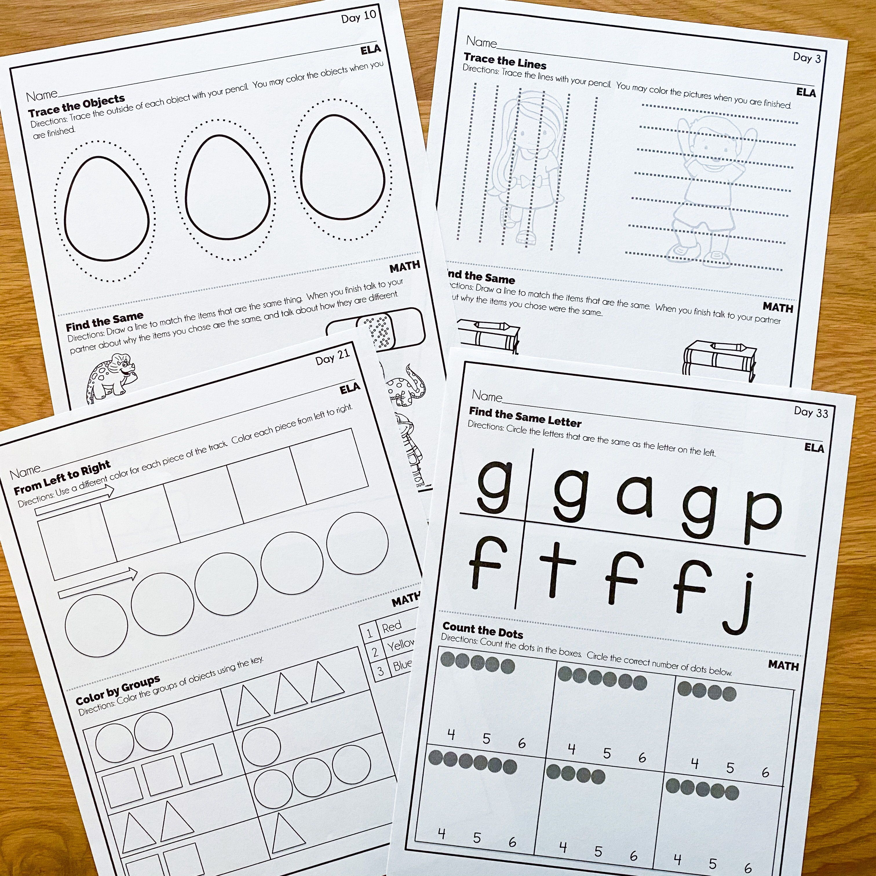 Kindergarten Math And Literacy Worksheets Kindergarten Morning Work Morning Work Activities Morning Work [ 3024 x 3024 Pixel ]