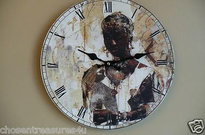 African Lady clock. Battery operated. New in condition from non smoking home.