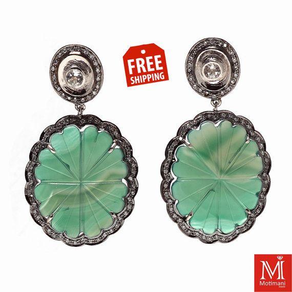 925 Sterling Silver Stud Earrings Mother Day by Motimanijewels, $85.00