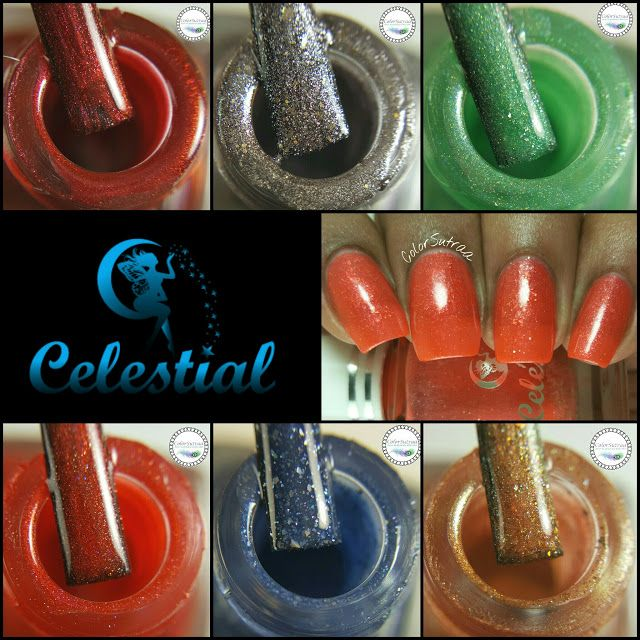 CELESTIAL COSMETICS Love Never Dies collection and August 2016 LE : Swatches and…
