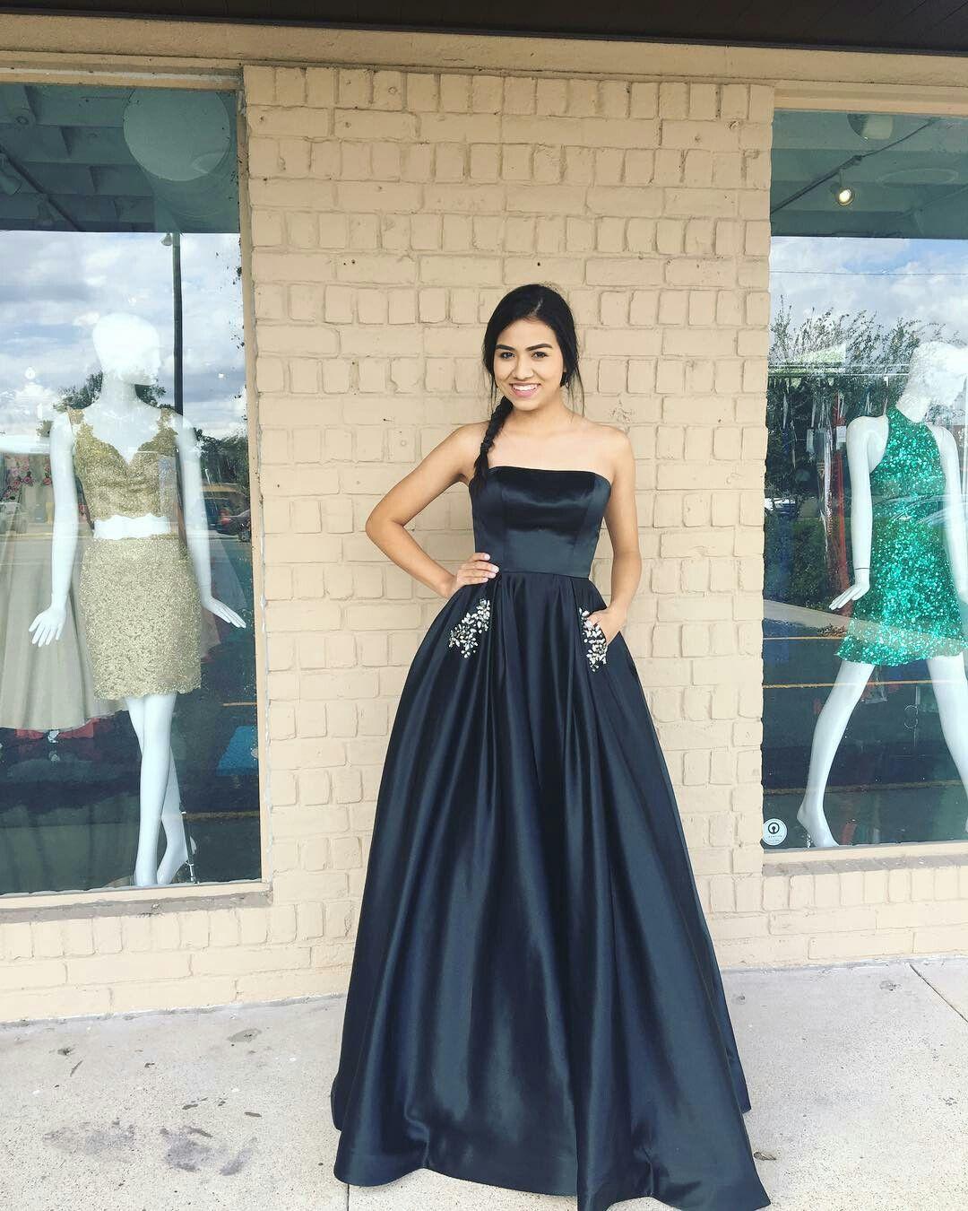 Crystal Strapless Prom Dress