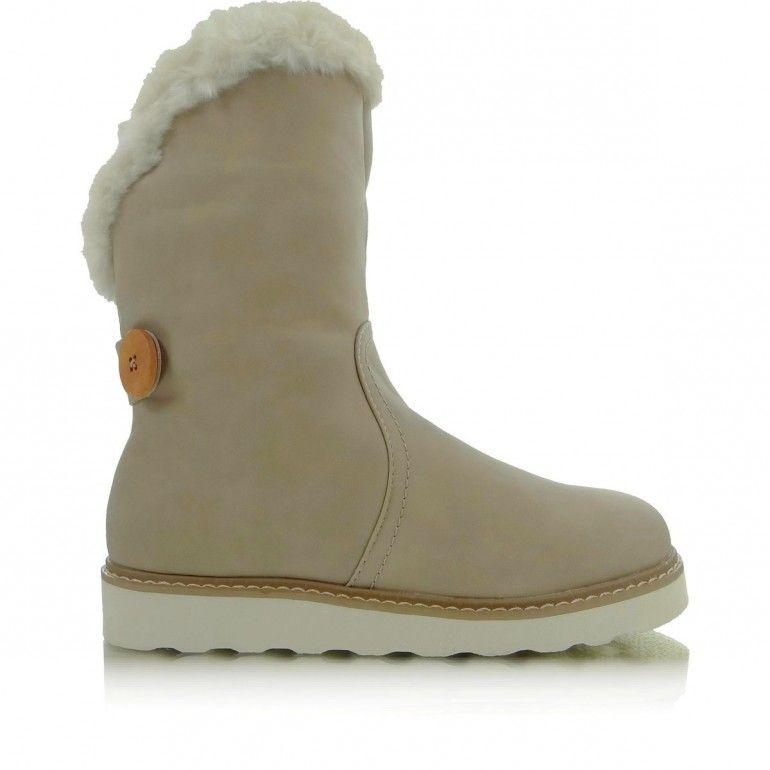 Kozaki Z Futerkiem 3vg 1146 Hm Bezowy Tanie Buty Sklep Immoda Boots Ugg Boots Shoes