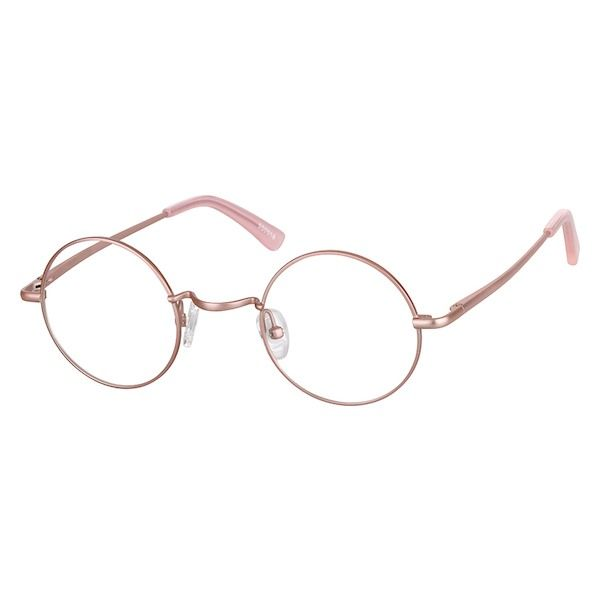 2a95c1aa4033a Zenni Round Prescription Glasses Rose Gold Stainless Steel 550019