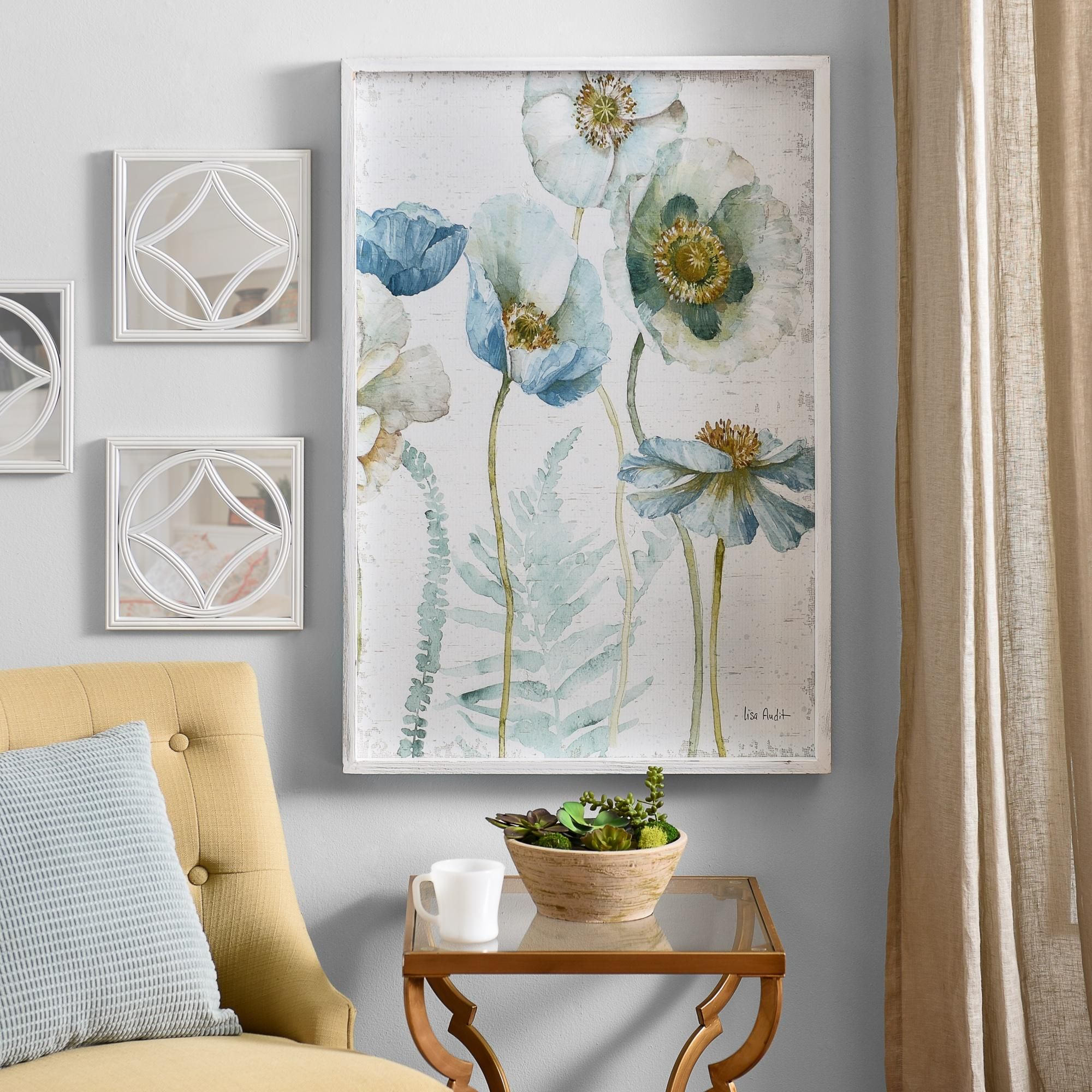 Pretty As A Picture, Our Aqua Poppies Framed Art Print