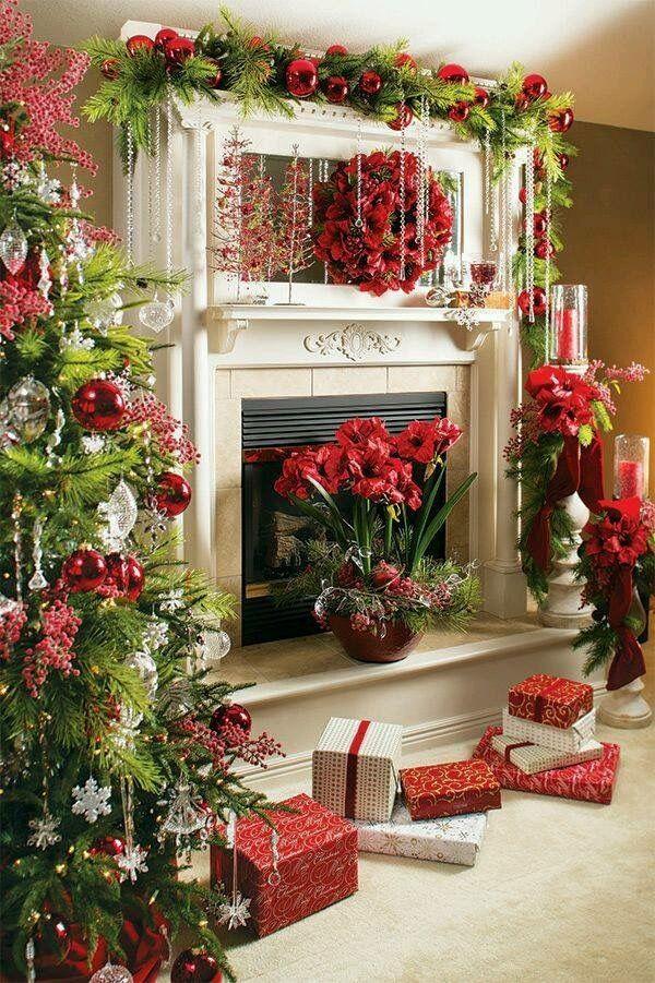 Pin by Maricruz Montaño Villalobos on Christmas Pinterest - christmas fireplace decor