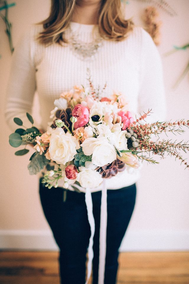 DIY hand-tied bouquet | Diy wedding bouquet, Diy wedding ...