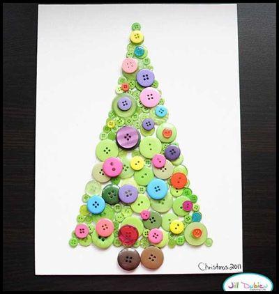 Button Christmas tree
