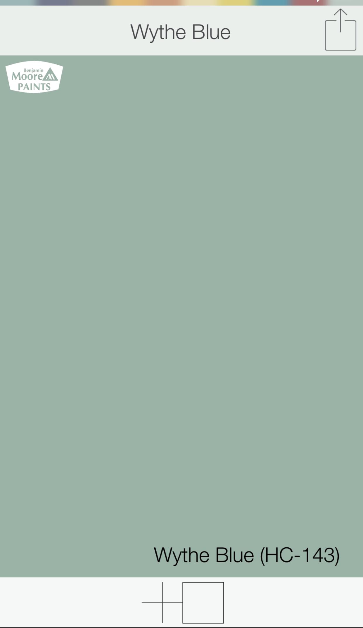 blue green front door colors wythe blue hc 143 benjamin moore paints swatchdeck app use. Black Bedroom Furniture Sets. Home Design Ideas